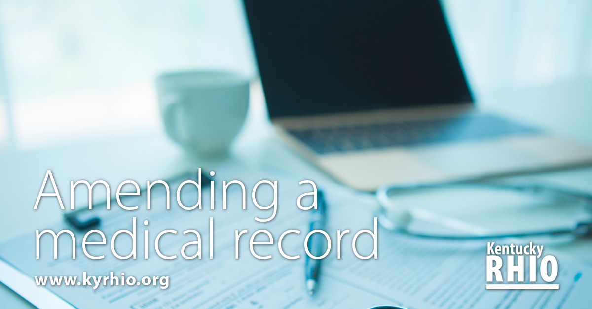 Patients can request to change their medical record